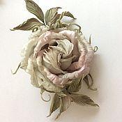 Украшения ручной работы. Ярмарка Мастеров - ручная работа Роза из шелка. Handmade.