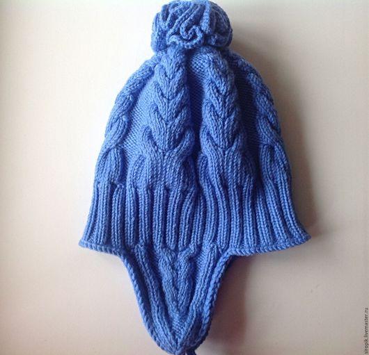 Шапки и шарфы ручной работы. Ярмарка Мастеров - ручная работа. Купить Шапочка для мальчика Осенняя. Handmade. Тёмно-синий