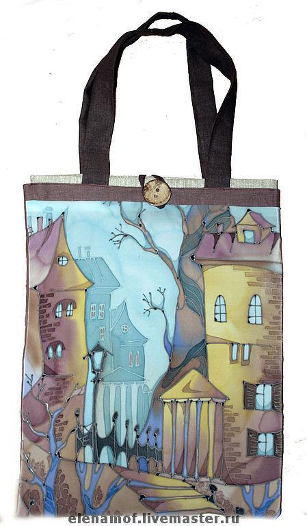 Женские сумки ручной работы. Ярмарка Мастеров - ручная работа. Купить Сумка Парк. Handmade. Сумка, Экосумка, рисунок