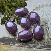 Материалы для творчества handmade. Livemaster - original item Pearl rhinestones Lavender 13h18 mm oval. Handmade.