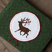 Канцелярские товары ручной работы. Ярмарка Мастеров - ручная работа Фотоальбом ручной работы с вышивкой Deer. Handmade.
