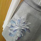 Одежда ручной работы. Ярмарка Мастеров - ручная работа Юбка-баска на бретелях с цветком. Handmade.