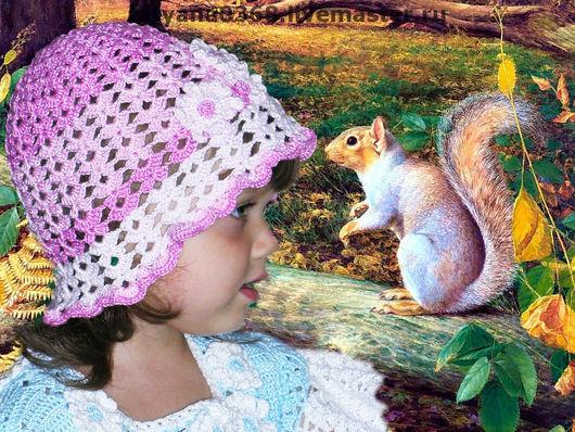Шапки и шарфы ручной работы. Ярмарка Мастеров - ручная работа. Купить ШАПОЧКА на девочку. Handmade. Вискоза