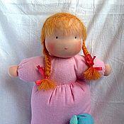 Куклы и игрушки ручной работы. Ярмарка Мастеров - ручная работа вальдорфская спальная кукла (из гладкой фланели). Handmade.