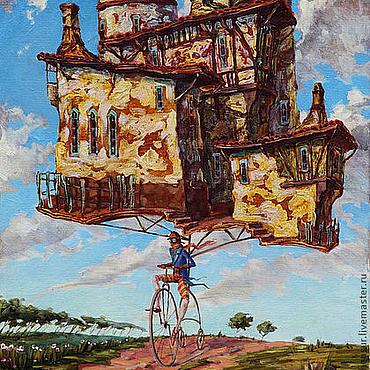 Картины и панно ручной работы. Ярмарка Мастеров - ручная работа Жизнь на колесах. Handmade.