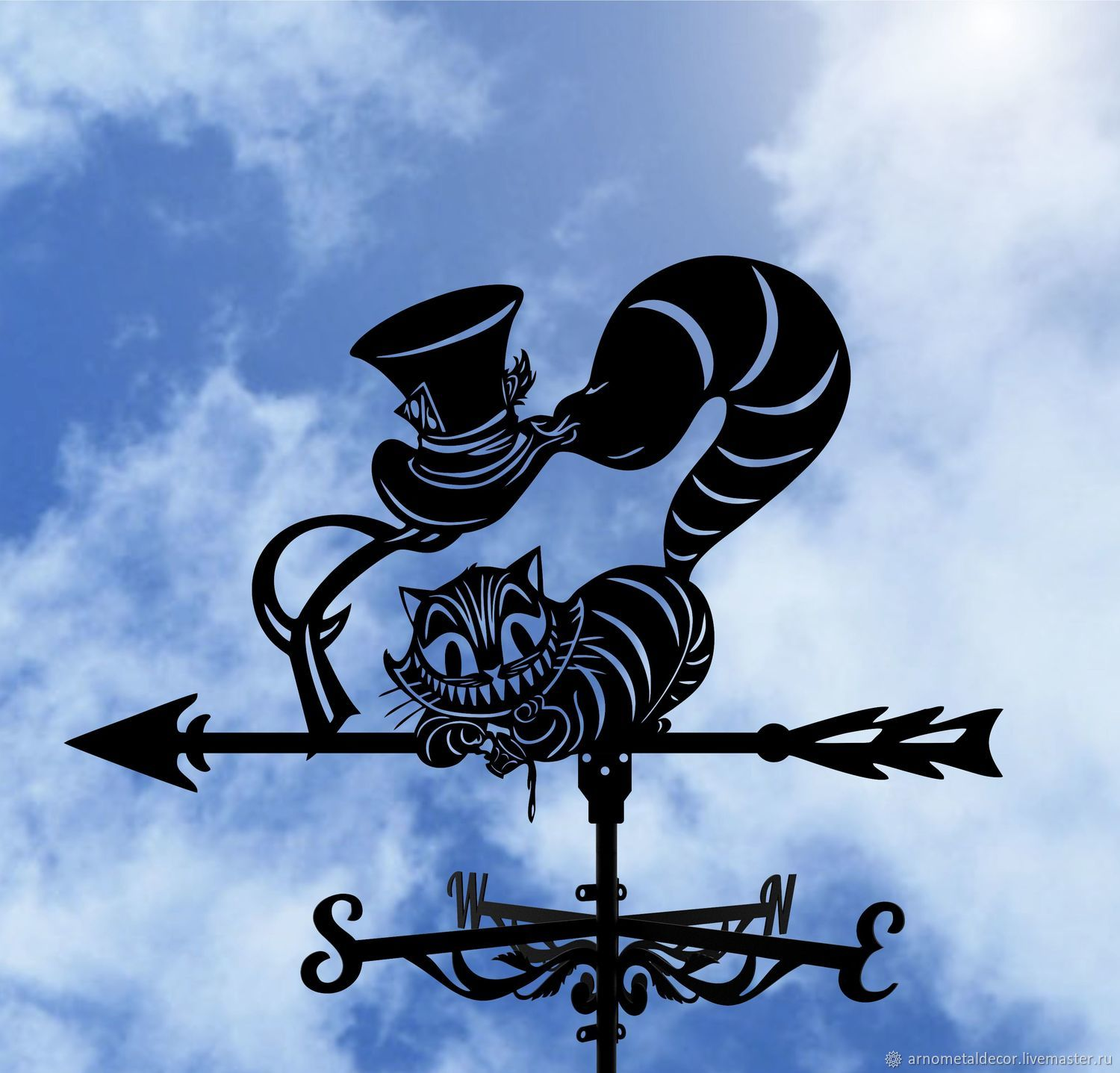 Weather vane on the roof ' Cheshire cat', Vane, Ivanovo,  Фото №1