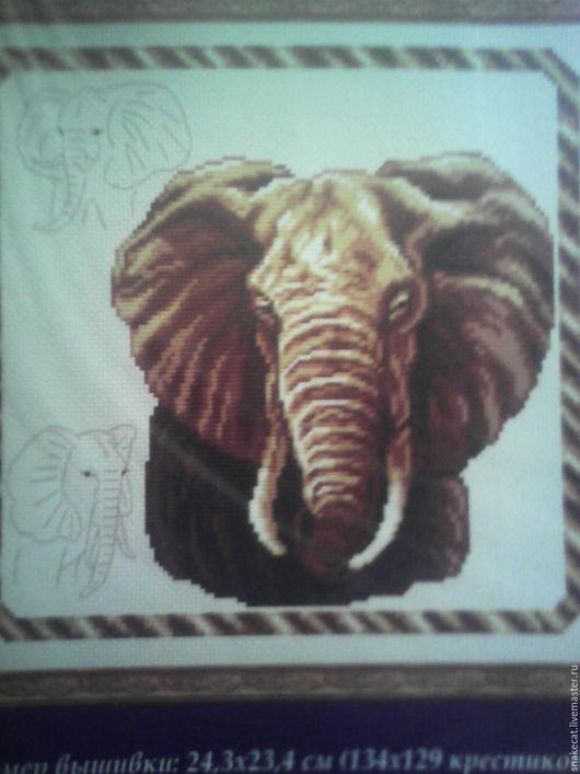 """Вышивка ручной работы. Ярмарка Мастеров - ручная работа. Купить набор для вышивания """"Слон"""". Handmade. Комбинированный, набор для творчества, набор"""