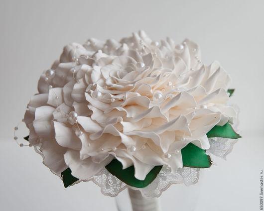 Свадебные цветы ручной работы. Ярмарка Мастеров - ручная работа. Купить Гламелия - фальш букет для невесты. Handmade. Белый