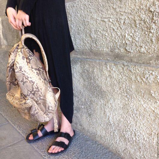 Рюкзаки ручной работы. Ярмарка Мастеров - ручная работа. Купить Рюкзак из кожи питона. Handmade. Модный рюкзак, рюкзак для девушки