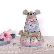Сувениры и подарки handmade. Livemaster - original item Bat. Needler, lilac, mouse, mouse, for interior. Handmade.