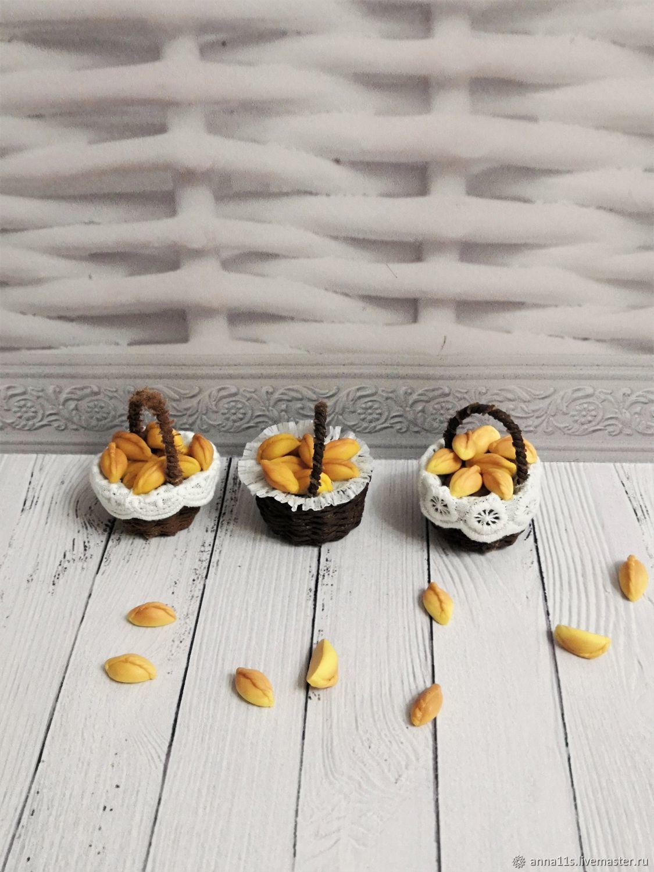 Корзиночка с пирожками, Кукольная еда, Москва,  Фото №1