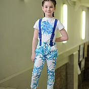 """Работы для детей, ручной работы. Ярмарка Мастеров - ручная работа Летний комплект джинсы и футболка Океан,коллекция""""Морской бриз"""". Handmade."""