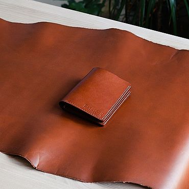 Bags and accessories handmade. Livemaster - original item Wallet men`s leather Hanover. Handmade.
