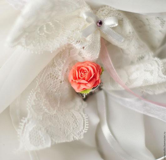 Кольца ручной работы. Ярмарка Мастеров - ручная работа. Купить Кольцо с розой. Handmade. Оранжевый, роза, акссесуары