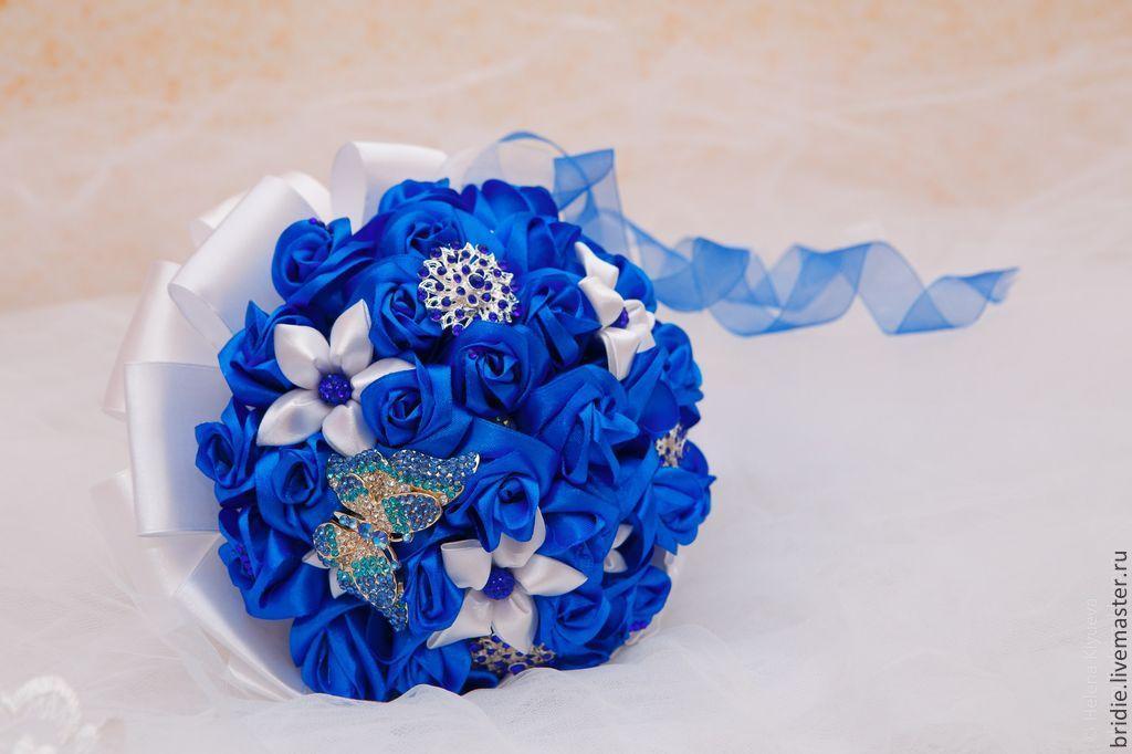 Свадебный синий букет