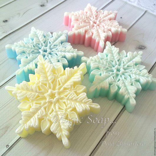 Мыло ручной работы. Ярмарка Мастеров - ручная работа. Купить мыло Снежинка. Handmade. Комбинированный, мыло ручной работы