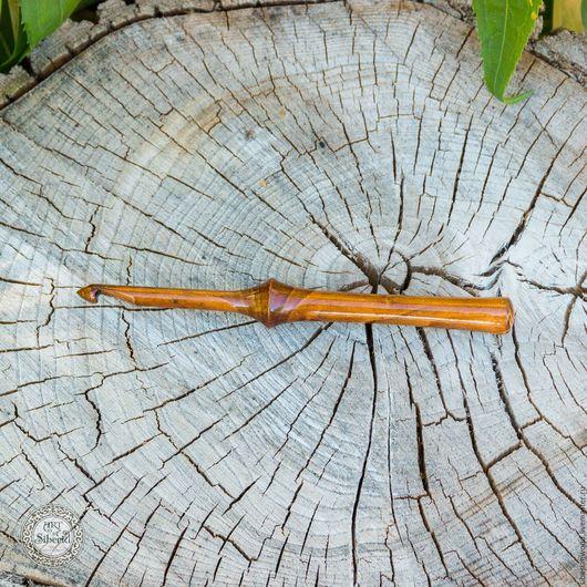 Другие виды рукоделия ручной работы. Ярмарка Мастеров - ручная работа. Купить Крючок для вязания 7 mm Натуральное дерево Вишня #K10. Handmade.