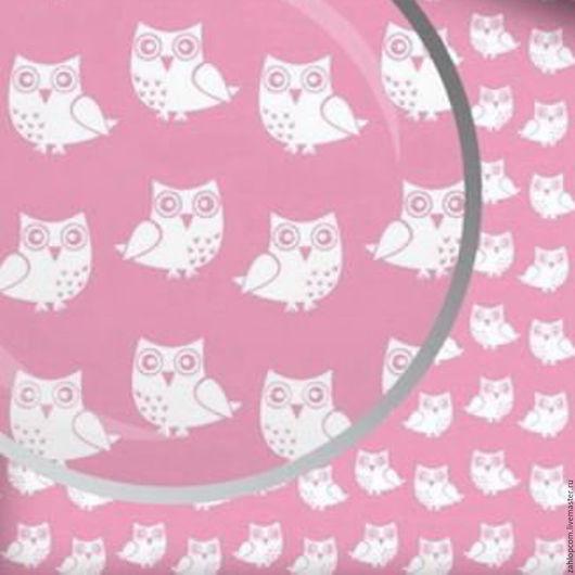 Шитье ручной работы. Ярмарка Мастеров - ручная работа. Купить Хлопок Совы белые на розовом (Польша). Handmade. Розовый, хлопок