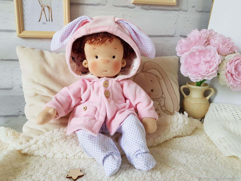 Вальдорфская кукла 30 см, кукла зайка, подарок девочке, Вальдорфские куклы и звери, Ростов-на-Дону,  Фото №1
