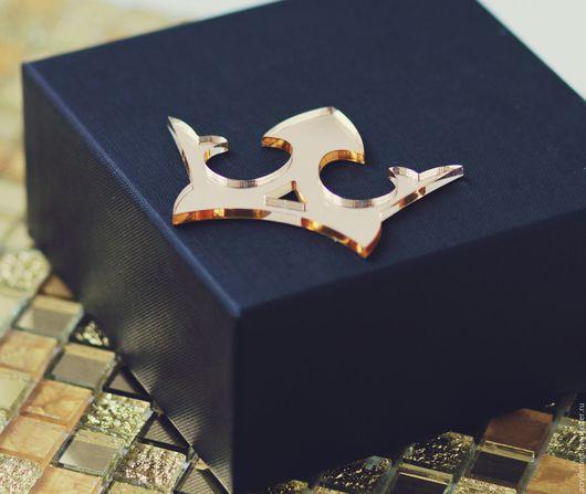 Детская ручной работы. Ярмарка Мастеров - ручная работа. Купить Наклейка для декорирования 3D золотая корона из зеркального акрила. Handmade.