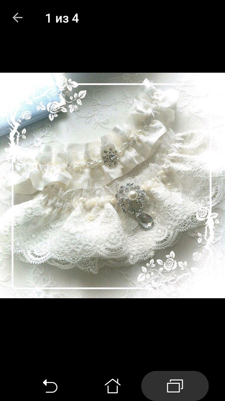 """Комплект подвязок для невесты """"Нежное кружево """", Подвязки, Москва, Фото №1"""