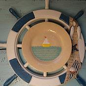 """Посуда ручной работы. Ярмарка Мастеров - ручная работа тарелка """"Море"""". Керамика. Handmade."""