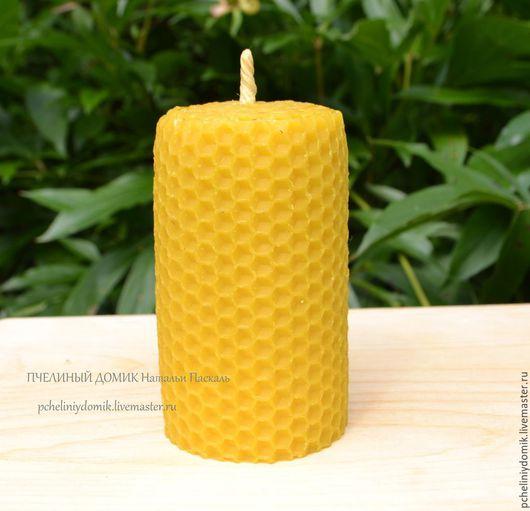 Свечи ручной работы. Ярмарка Мастеров - ручная работа. Купить свеча из вощины толстая. Handmade. Желтый, свеча, восковые свечи