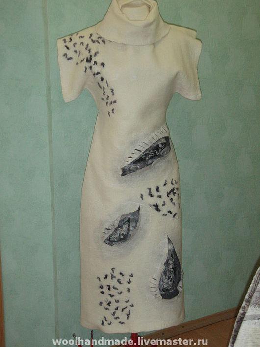 Платья ручной работы. Ярмарка Мастеров - ручная работа. Купить Платье из шерсти Весенние проталины. Handmade. Валяние, войлок