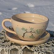 Чайные пары ручной работы. Ярмарка Мастеров - ручная работа Чайная пара Сосны. Handmade.