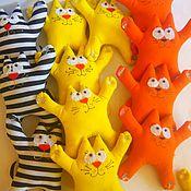 Куклы и игрушки ручной работы. Ярмарка Мастеров - ручная работа Кот Саймон на присосках. Handmade.