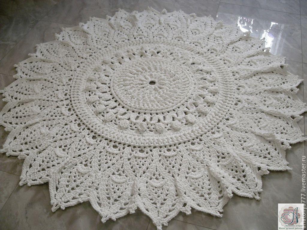 Handmade carpet embossed knitted cord snowflake, Carpets, Kabardinka,  Фото №1