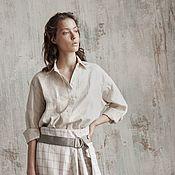Одежда handmade. Livemaster - original item Cotton shirt with patch pockets. Handmade.