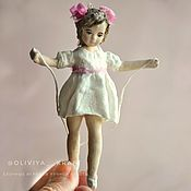 Куклы и игрушки handmade. Livemaster - original item Christmas toy Girl with a skipping rope. Handmade.