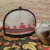 """Грелки на чайник ручной работы. Ярмарка Мастеров - ручная работа Грелка на небольшой чайник """" В русском стиле"""". Handmade."""