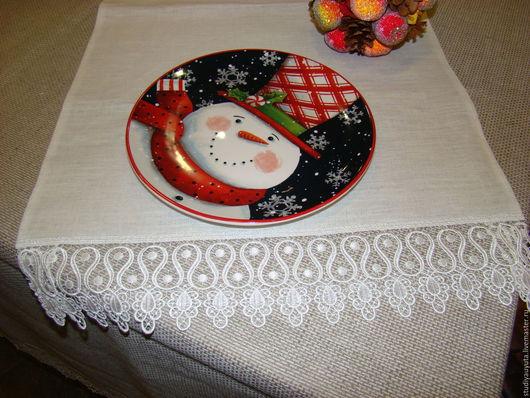 Текстиль, ковры ручной работы. Ярмарка Мастеров - ручная работа. Купить Дорожка белая льняная. Handmade. Белый, салфетки