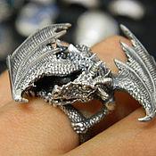 Кольца ручной работы. Ярмарка Мастеров - ручная работа Кольцо Дракон. Handmade.