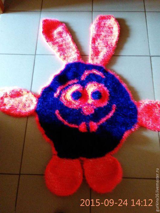 Текстиль, ковры ручной работы. Ярмарка Мастеров - ручная работа. Купить Коврик для деток. Handmade. Разноцветный, пряжа травка