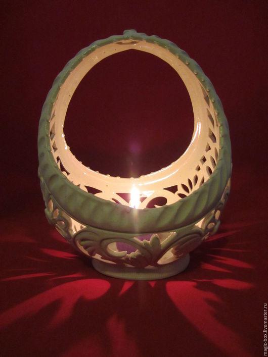 для примера - конфетница Лукошко в качестве светильника (со свечой)