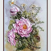 """Картины и панно ручной работы. Ярмарка Мастеров - ручная работа картина """"Розовый нектар"""". Handmade."""