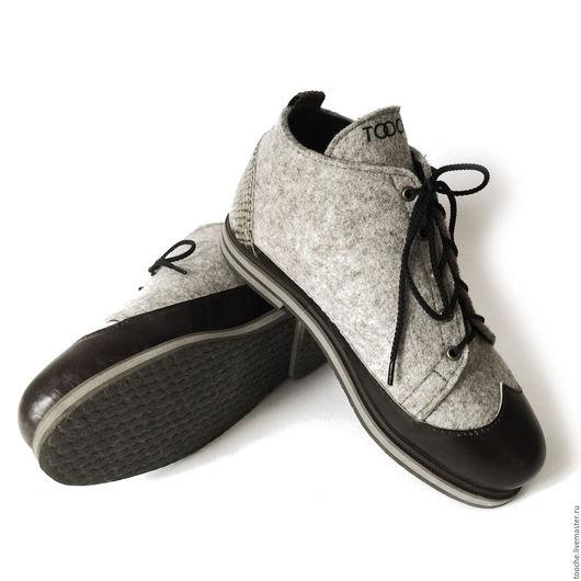 """Обувь ручной работы. Ярмарка Мастеров - ручная работа. Купить Ботинки """"Мягкая рептилия"""". Handmade. Зимняя обувь, войлочная обувь"""