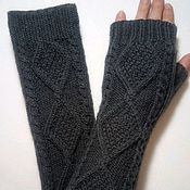 Аксессуары handmade. Livemaster - original item Sleeve mitts, knitted Alice, color morengo. Handmade.