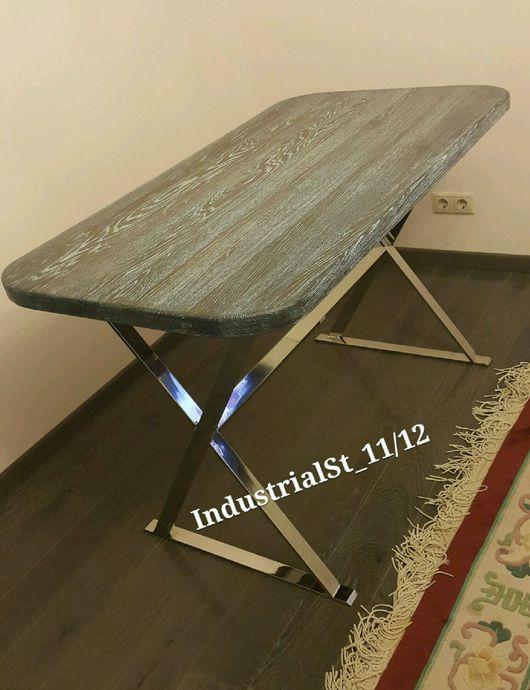 Мебель ручной работы. Ярмарка Мастеров - ручная работа. Купить Steel shine. Handmade. Лофт, стулья, винтаж, масло по дереву