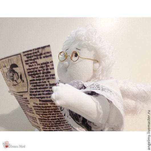 Сказочные персонажи ручной работы. Ярмарка Мастеров - ручная работа. Купить Ангел Журналистики, арт. 036. Handmade. Белый