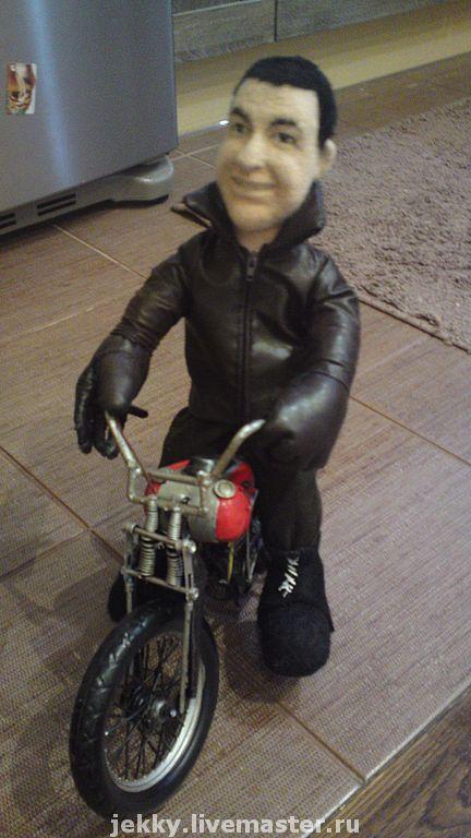 Портретные куклы ручной работы. Ярмарка Мастеров - ручная работа. Купить Портретная кукла Байкер 2. Handmade. Портретная кукла