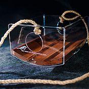 Дача и сад handmade. Livemaster - original item A bird feeder made of wood and acrylic