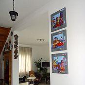 Pictures handmade. Livemaster - original item Triptych oil Abundance. Handmade.