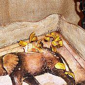 """Для дома и интерьера ручной работы. Ярмарка Мастеров - ручная работа """"Африканский слон"""" поднос. Handmade."""