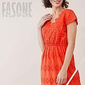 Одежда handmade. Livemaster - original item dresses: Red dress from sewing. Handmade.
