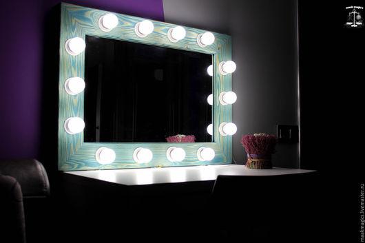 Зеркала ручной работы. Ярмарка Мастеров - ручная работа. Купить Гримерное зеркало Tiffany Blue MAAK Magic's. Handmade. Бирюзовый