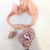 """Украшения ручной работы. Ярмарка Мастеров - ручная работа Комплект"""" Розовый кварц"""". Handmade."""